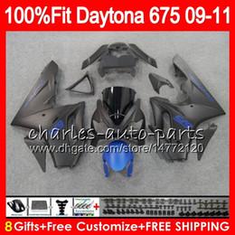 2019 675 carenados azules Inyección para carrocería Triumph Daytona 675 2009 2010 2011 2012 Flat blue blk 107HM.53 Daytona 675 09 10 11 12 Daytona-675 Daytona675 Fairing 675 carenados azules baratos