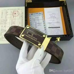Modello di stile auto online-Moda Uomo Cintura in vera pelle Casual modello Cinturino in metallo Cinture Sport Car stile fibbia uomo cinture di marca maschio di alta qualità