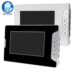 "Wholesale apartment door intercom - 7"" TFT Color Video Door Phone Intercom System Video Doorbell Indoor Monitor Unit with 25 Ringtone for Home Apartment Safe V70E"