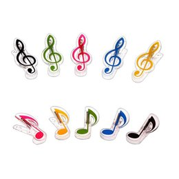Wholesale plastic music notes - Plastic Music Note Clip Piano Book Page Clamp Musical Treble Clef Clips Wedding Birthday Party Favor Gifts ZA5788