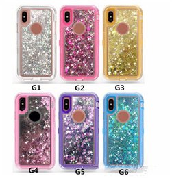 Wholesale Iphone Sand Cases - New mobile phone shell sand mobile phone shell iPhone and samsung transparent three phone shell