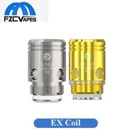 Wholesale Wholesale Pods - Authentic Joyetech EX Coil Heads Replacement Core MTL 1.2ohm DL 0.5ohm for Exceed Edge Pod Kit D19 D22 Kit 100% Original