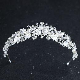 2019 corona del fiore del rhinestone Perline da sposa con strass perline da sposa in oro e diamanti corona del fiore del rhinestone economici