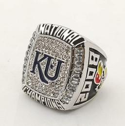 Wholesale Ku Jayhawks - Factory Direct Sale 2008 NCAA Generous Kansas Jayhawks KU Championship Rings