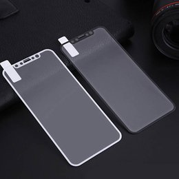 Wholesale iphone screen protector anti glare - Silk Printing Tempered Glass Hard Edge Guard Screen Protector Film For iPhone X 8 7 Plus 6 6S Samsung Galaxy J2 PRO J5 J7 Prime A5 A7 A8 A9