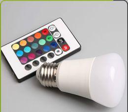 светодиодные лампы накаливания Скидка Горячие продажи в европейском и американском качестве 3W светодиодные лампы RGB умный дом лампы E27 энергосберегающие светодиодные лампы