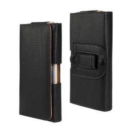 Wholesale Elite Cases - Universal Belt Clip PU Leather Waist Holder Flip Pouch Case for GSmart Classic Joy Elite
