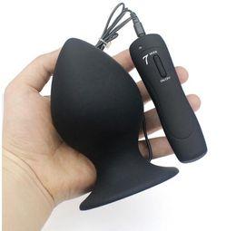 Argentina Súper Gran Tamaño 7 Modo Vibrador de Silicona Butt Plug Gran Anal Vibrador Enorme Anal Plug Unisex Juguetes Eróticos Productos Sexuales L XL XXL Suministro
