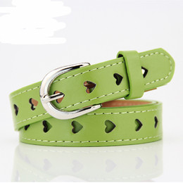 Wholesale Decorative Metal Hearts - New Hot Fashion Trendy Women Girls Female Decorative Accessories Heart Hollow Belt Faux Leather Metal Buckle Straps Waistband
