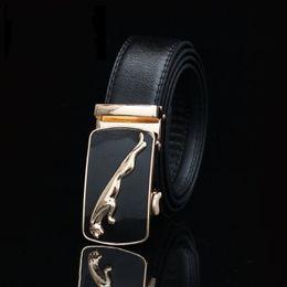 cinturón de leopardo de los hombres Rebajas Leopard Pattern Automatic Hebilla Correas Caucho Surco Diseño Cintura Cinturones Para Hombres Imitación Cuero Cinturón Top Fashion 5sm B