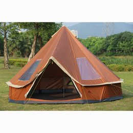 Wholesale Mm Base - Ultralarge 5-8 Person Family Size Mongolia yurt Tent for Travel Hiking Waterproof Sun Shelter Tent Outdoor Camping Winter Tents
