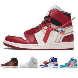 buy popular df264 5cf3e Nuovo arrivo Off OG Top 1 Uomo Nero Oro 1s Sneakers di alta qualità NUC  Outdoor scarpe da ginnastica uomo bianco scarpe da corsa scarpe da basket  36-45 ...