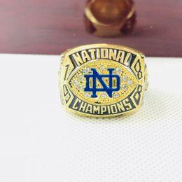 Campeonato de futebol on-line-Ordem do transporte da gota 1988 Notre Dame Fighting Irlandês NCAA FOOTBALL National Championship Ring