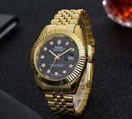 Wholesale High Priced Watches - Factory Price Men High Quality Steel Watch Famous Brands Gold Fashion Design Bracelet Watches Ladies Men Wrist Watches Relogio Femininos
