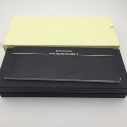 Черная деревянная ручка коробка для MB авторучка / шариковая ручка / шариковые ручки пенал с гарантией руководство A8 от Поставщики оптовые подарочные коробки пустые