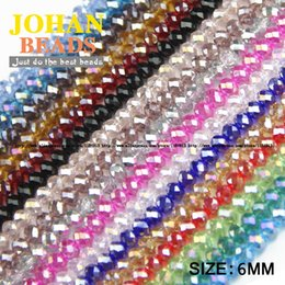 high ball glasses Coupons - JHNBY Round Shape Upscale Austrian crystal beads High quality 6mm 50pcs loose beads rondelles glass ball bracelet Jewelry DIY