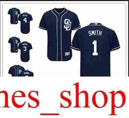 5c357d3cc custom Men s women youth Majestic SD Padres Jersey  1 Ozzie Smith 3 Derek  Norris 4 Wil Myers 8 Erick Aybar Home Nary Blue Baseball Jers