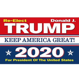 2019 fly ft Trump 2020 Bandiera Stampa Keep America Great Banner Decor per Presidente USA Elezioni americane No More Bullshirt Donald Flag 90x150cm hot