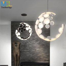 transparent table lamps Promo Codes - Modern living room dining room 2x36W led chandelier Nordic fashion bar table lamp personality art creative led pendant chandelier light
