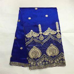 4391612f36803f Fashion Style African Nigerian George Spitze Stoff Mit Tüll Für Frauen  Bluse Nähen Indien Guipure George Material LXE081703 afrikanische  stoffstile im ...