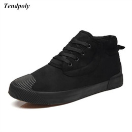 Wholesale Zip Up Ties - Winter new men's high to help tie plate shoes plus velvet thick warm casual shoes hot student models wild fashion men's