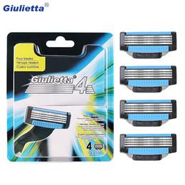 2019 faca de barbeiro Giulietta lâminas de barbear dos homens, quatro navalhas, 4 cabeças.