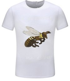 Wholesale Breathable Atmosphere - Foreign trade explosion short-sleeved men's round neck bee pattern high-end leisure breathable T-shirt fashion and comfortable atmosphere