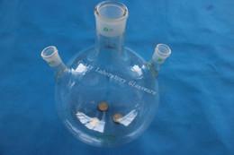 5L pallone a fondo rotondo a 3 colli, 5000 ml, giunto centrale 45/40, lato due giunti 24/29, muro pesante (strumento da laboratorio) da