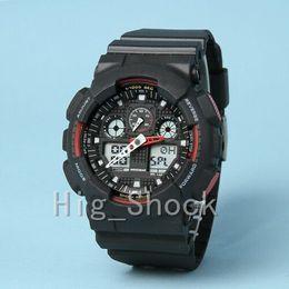 смотреть хронограф мужчины Скидка бренд Мужские спортивные цифровые наручные часы, Спорт reloj hombre армия военный хронограф часы шок сопротивляться relogio masculino случайные часы