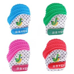 Wholesale Animal Mittens - Silicone Baby teethes Gloves Newborn Teething Chewing teether Nursing Mittens Multicolor Sounding Molar Rod Toys New Arrive 18tr Z