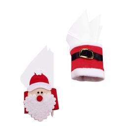 Wholesale serviette holders - 1Pcs Christmas Napkin Ring Santa Claus Napkins Buckle Table Decor Serviette Holder For Christmas Ornaments Party Supplies P20