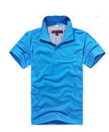 Top petites entreprises en Ligne-Top marque vêtements New Men Polo Shirt hommes petit cheval broderie Business Casual mâle solide polo shirt manches courtes polo respirant