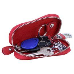 Wholesale Key Case Cover Leather - Door Car Key Bag mini fashion Zipper Covers Key Case Bag men Women Key Pouch Housekeeper ljjf024