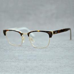 Vazrobe Acétate Lunettes Hommes Femmes Vintage Lunettes Cadres Homme Femme  Tortue Demi Sans Cadre Lunettes Prescription Myopie lunettes cadres homme  femme   ... b735313090e4