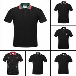 2018 Nueva moda para hombre camiseta de verano corto de calidad superior de algodón POLO camisas diseñadores famosos marca slim fit t shirt hombres caliente desde fabricantes