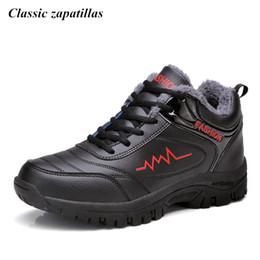 Argentina Clásico Zapatillas Súper Cálido Botines de Invierno para Hombre Impermeable de Goma Hombres Botas de Nieve Ocio de Peluche Zapatos de Invierno cheap men's waterproof snow boots Suministro