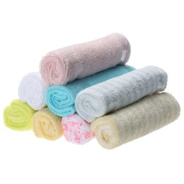 baby bath towel square Coupons - 8pcs Lot Multifunctional Baby Saliva Towel Cotton Infant Kids Handkerchiefs Face Hand Bathing Towel Small Square Feeding Towels