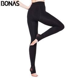 soft warm leggings Coupons - BONAS Women Warm Leggings Fitness Soft Comfortable Leggins Mujer Push Up Leggings Average Size Warm Winter D005