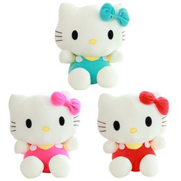 Wholesale Red Stuffed Teddy Bear - 20cm Mini Hello Kitty Plush Toys Dolls Kawaii Stuffed Cartoon Toys Doll Girls Kids Brinquedos Factory Price