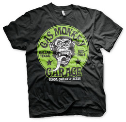 Sous licence officielle Gas Monkey Garage - T-shirt Logo vert S-XXL Tailles ? partir de fabricateur