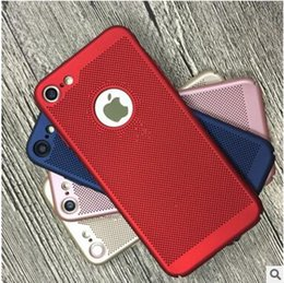 Wholesale Iphone 5s Apple Case New - New Ultra thin Heat dissipation Hollow Breathable Slim Armor Hard Back Cover PC Case For Iphone X 8 7 6 6s plus 5S SE samsung s8 s9 plus
