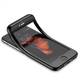 Caso de la cubierta frontal del iphone online-Caja suave mate del teléfono de TPU del cuerpo completo de 360 grados para IPhone X XS XR XS MAX 7 8 más cubiertas traseras protectoras delanteras