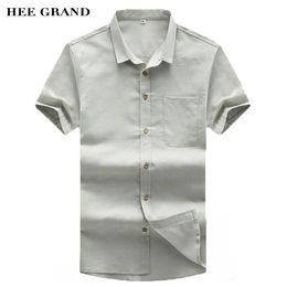 2020 материал воротниковой рубашки Хи Гранд мужчины с коротким рукавом лето тонкие рубашки 2017 Новое прибытие хлопок лайнер дышащий материал Мужские рубашки размер M-XXL MCS679 дешево материал воротниковой рубашки