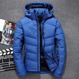 blanco ropa deportiva Rebajas Alta calidad moda hombre 90% pato blanco abajo chaqueta 2018 invierno Casual abajo abrigos chaquetas Parkas hombres ropa deportiva ropa