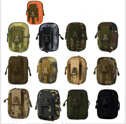 Wholesale mobile waterproof pouch - EDC Military Molle Pouch Waist Bag Men Camo Waterproof Nylon Mulfition Fanny Pack Mobile Phone Case Tactical Hiking Camping Tool Holder Bag