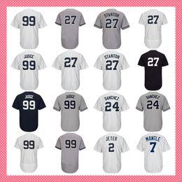 Wholesale suzuki 99 - custom 25 Gleyber Torres 18 Didi Gregorius 99 Aaron Judge Jersey 27 24 Gary Sanchez 42 Mariano Rivera Baseball Jerseys