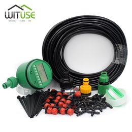 Wholesale Adjustable Timer - Automatic Garden DIY Micro Drip Irrigation System Plant Self Automatic Watering Timer Garden Hose Kits With Adjustable Dripper