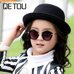 0126035cae498 QETOU 2018 Brand Trendy Kids Sunglasses Polygon Children Boys Girls Sun  Glasses Sun Shades Baby Glasses Eyeglasses Goggles