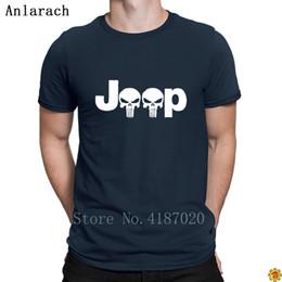 Punisher Ile jeepler Logo Tişörtleri Başar Baskı Komik Kısa Kollu erkek Tshirt 2018 Spor Giyim Sevimli Anlarach Standart nereden jeep kıyafetleri tedarikçiler
