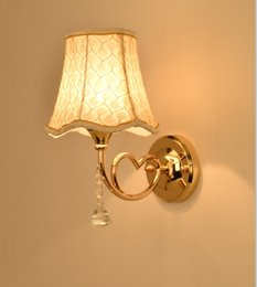 Wholesale High End Light Switches - Wall lamps,European wall lamp,Fabric,Wall Mouted,LED light source,Single shade,Free shipping,High-end wall lamp